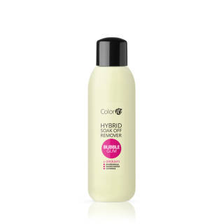 Hybrid Soak Off Remover COLOR IT with oils - Bubble Gum 570 ml