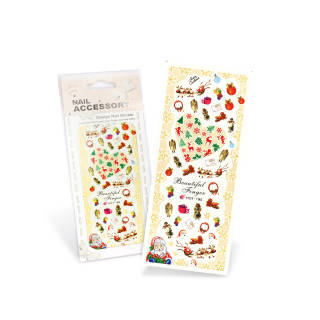 OUTLET Christmas nail stickers (water) *195
