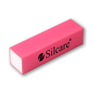 Abrasive buffer Silcare 4-sided Pink