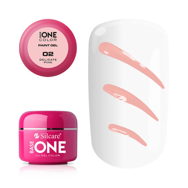 Silcare Base One Żel UV Paint Gel 02 Delicate Pink