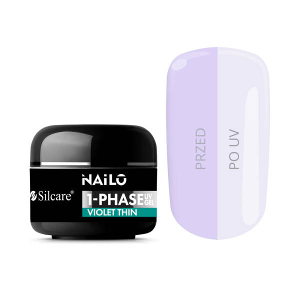 Silcare Уф-Гель NAILO 1-Phase - Violet Thin 15 г