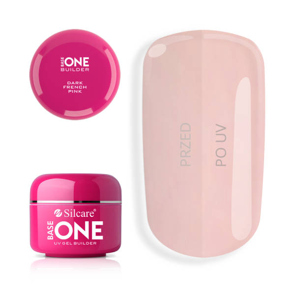Silcare Base One Gel UV French Pink Dark 30 g